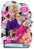 Barbie DWK49 FASHION AND BEAUTY DIY Crimps and Curls Doll Hair Play Doll, Style, Fashion and Fabulous Accessories