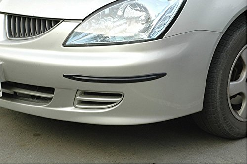 Hypersonic® HP6159 Stoßstangenschoner Schutzleiste Stoßstangenschutz Rammschutz fürs Auto , selbstklebend , flexibel , 2 STÜCK im Set