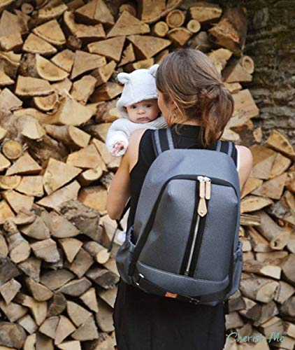 0c9daea951db5 PacaPod Picos Pack Black Charcoal Designer Baby Changing Bag - Unisex Luxury  Black Backpack 3 in
