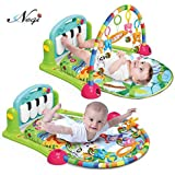 [Sponsored]Negi Newborn Baby Multi-Function Piano Fitness Rack With Music Rattle Infant Activity Play Mat ( Multi-Color)