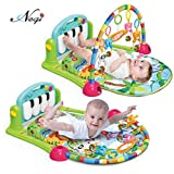 #9: Negi Newborn Baby Multi-Function Piano Fitness Rack with Music Rattle Infant Activity Play Mat ( Multi-Color)