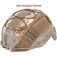 ATAIRSOFT Táctico Airsoft Paintball Casco Militar de Caza Cubierta de Tela de Nylon para Cascos rápidos BJ/PJ/MH