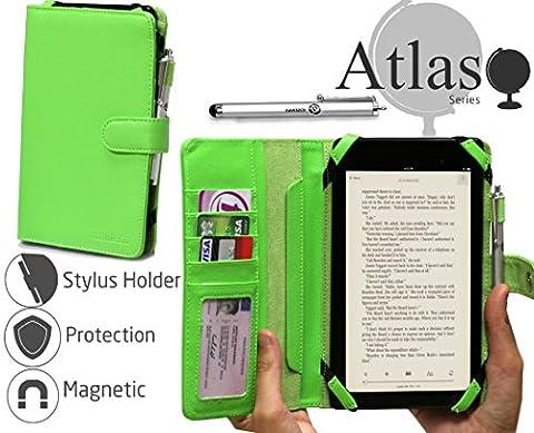 Navitech housse étui vert folio avec stylet pour Toshiba Encore 7