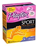 Playtex Sport Fresh Balance Tampons, Light Scented, 16 Count