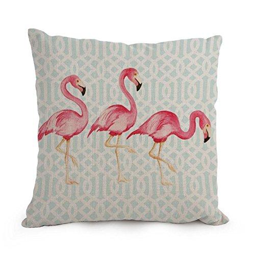 artistdecor der Flamingo Valentine Day Kissen von 45,7x 45,7cm/45, von 45cm Dekoration Geschenk für Zeichnen Zimmer Spielen Raum ihn Jungen, Bar Spielen (doppelte Seiten)