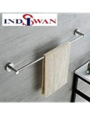 Indiswan Stainless Steel Conceal Towel Holder (24 Inch, Silver)