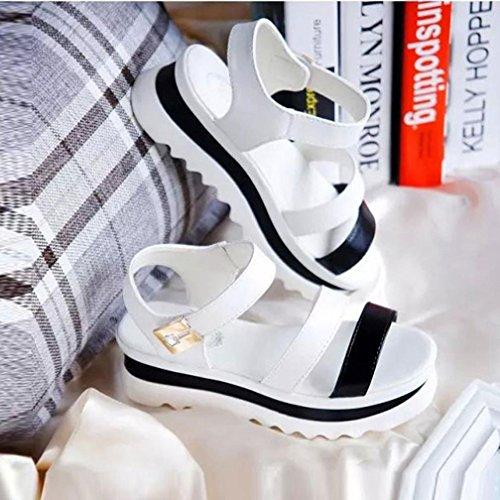 Clode®  Yll60526521, Peep-Toe femme Blanc