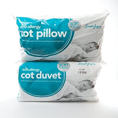 Cushy - 9 Tog Anti-Allergy Cot Bed Duvet and Pillow - Nursery, Baby, Toddler, Junior - low-cost UK light shop.