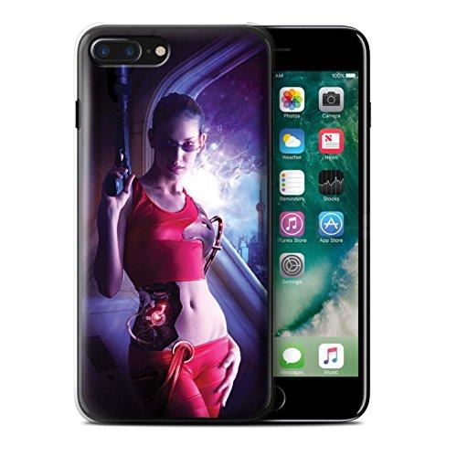 Officiel Elena Dudina Coque / Etui pour Apple iPhone 7 Plus / Pack 9pcs Design / Super Héroïne Collection Cyborg