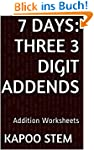 7 Addition Worksheets with Three 3-Di...