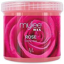 Mylee Cera De Rosa Suave en Crema para Pieles Sensibles 425g, Pote de Crema Depilatoria para Eliminar Vello, Ideal para Cuerpo, Cara e Ingles, Se Puede ...