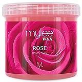 Mylee Cera De Rosa Suave en Crema para Pieles Sensibles 425g, Pote de Crema Depilatoria para Eliminar Vello, Ideal para Cuerpo, Cara e Ingles, Se Puede Calentar en el Microondas o en un Calentador de Cera