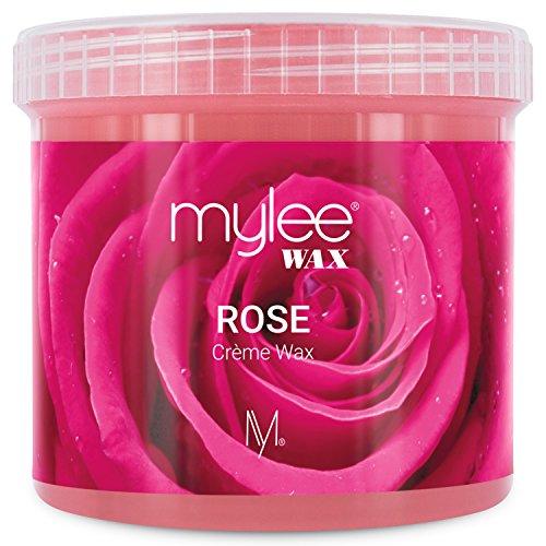 Mylee Cera di Rosa in Crema Soft per Pelle Sensibile 425g, Cream pot per depilazione, Ideale per tutto il corpo, Viso e zona bikini, compatibile con il microonde e lo scaldacera