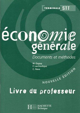 Economie générale Tle STT : Livre du professeur