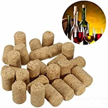 Mark8shop 25pcs Unused Straight Round Wine Cork Stopper Plug Wine Bottle Cap