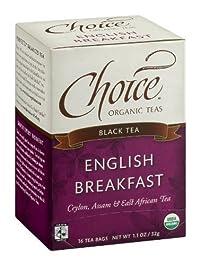 CHOICE ORGANIC TEAS TEA,OG2,FT,ENG BRKFST, 16 BAG
