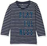 NAME IT Baby-Jungen Langarmshirt NITDIJON LS TOP M NB, Mehrfarbig (Dress Blues), 80