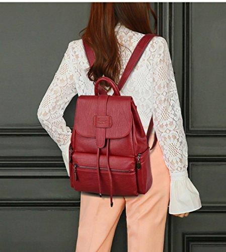 LAIDAYE Frau Fashion Schulranzen Red