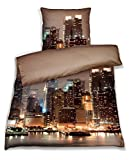 New York Bettwäsche Mako-Satin Art At Night, 140x200 + 70x90