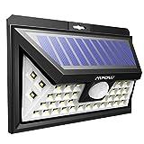 Luminaire LED solaire Mpow - 40 LED - Avec détecteur de mouvement - 3 modes d'éclairage - Grand panneau solaire résistant aux intempéries - Idéal pour le jardin, une allée, une cour ou une terrasse