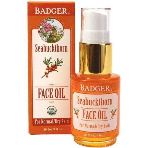 Argousier Huile visage, pour les peaux normales / sec, 1 fl oz (29,5 ml) - Badger Company