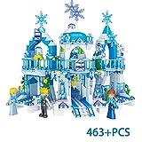 HLDX 463 PCS Ice And Snow Princess Castle Adventure Bambini Educational Building Blocks Girl's Favorite Children's Birthday Gift