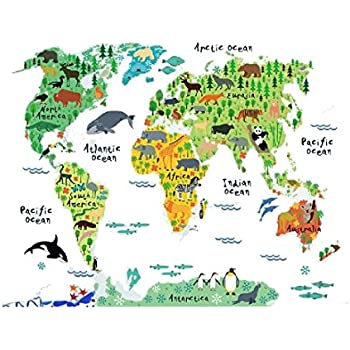 Decor animal world map wall stickers decal home decoration removable decor animal world map wall stickers decal home decoration removable wallpaper mural diy gumiabroncs Image collections