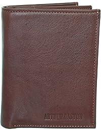 Portefeuille européen Arthur & Aston en cuir souple marron