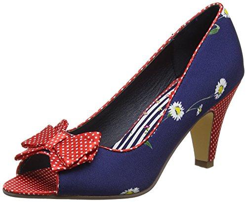 Joe Browns Damen Remarkable Bow Trim Shoes Pumps Blue (Navy Multi)