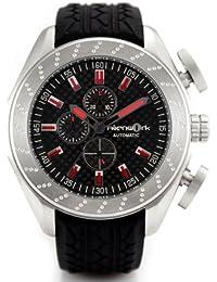 fc3d04eae511 Alienwork GT-Speed Reloj Mecánico Automático Relojes Automáticos Hombre  Mujer Goma negro Analógicos Unisex Calendario Fecha plata… Watx Vertical ...