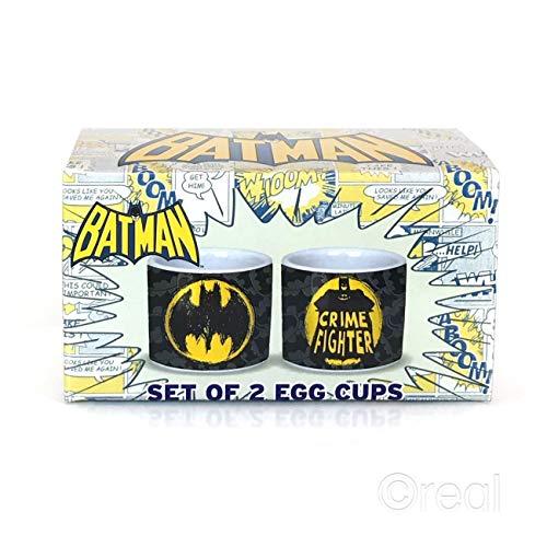 Egg Cups Set Of 2 Batman Crime Fighter Official Fan Merchandise