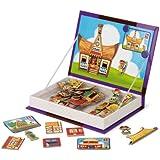 Janod 4505549 - Magnetbox Häuser der Welt, 58 Magnete, 7 Karten