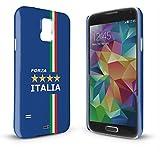 YOUNiiK Premium Case für Samsung Galaxy S5 SM-G900F - Fan Artikel Fußball Italien / Forza Italia - Handyhülle Cover in einzigartiger Qualität, randlos bedruckt und extrem kratzfest