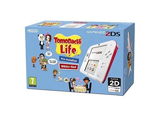 Compare Nintendo Handheld Console - White/Red with Pre-installed Tomodachi Life (Nintendo 2DS/3DS) prices