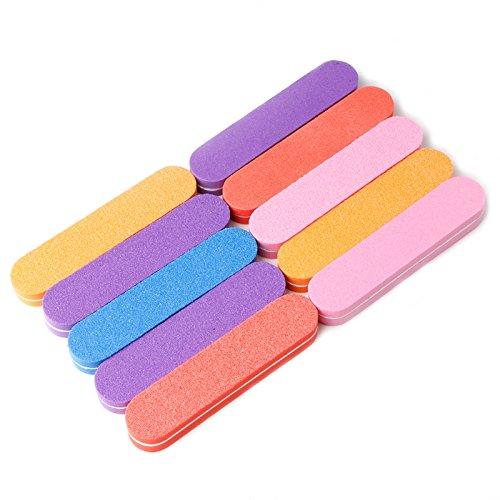 JAGENIE Schwamm Nail Art Tipps Puffer Schleifblock Polieren Dateien Maniküre Werkzeug (zufällige farbe)