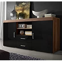 Letti e Mobili – Credenza modello Taby in colore legno di ciliegio con nero