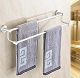 GuoEY Der Raum Aluminium Double-Bar der Handtuch Badetuch Trockner Wand, Door-Door Towels-Accessories für Bad Ablagen Badezimmer Einrichtung Organisation