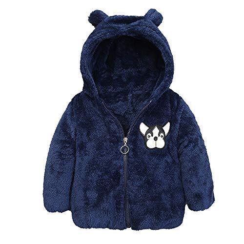 Longra Kinder Baby Winter Jacke Mantel für Jungen Mädchen Cartoon Hund Fleecejacke Teddyjacke Teddy-Fleece Mantel mit Reißverschluss...