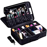 LACOPINE Portable Cosmetic Organizer with Shoulder Straps Multi Functional Cosmetic Bag Makeup Handbag for Travel & Home Gift