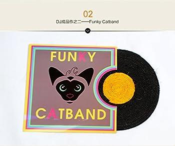 Tapis de sisal petite Cat Scratch plaque meulage griffes jouets pour animaux familiers,Orange