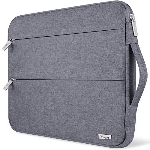 Voova 11.6-12 Zoll Laptophülle Laptoptasche Wasserdicht Notebooktasche Schlank Schutzhülle Kompatibel mit Laptop/Chromebook/Dell/HP/MacBook Air/Pro Retina (Grau)