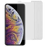 Arktis 6 x Folie kompatibel mit iPhone XS, iPhone X, kristallklare Premium Display Schutzfolie...