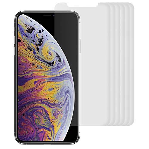 Arktis 6 x Folie kompatibel mit iPhone XS, iPhone X, kristallklare Premium Display Schutzfolie Displayfolie, Hüllenfreundlich, Face-ID kompatibel, einfach und blasenfreie Aufbringung