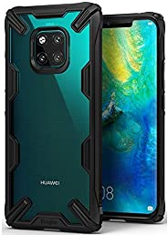 Ringke Huawei Mate 20 Pro Mobile Cover Fusion-X Transparent Shock Absorption TPU Bumper Case - Black