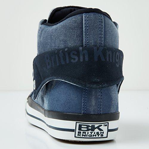 British Knights Roco Hommes Baskets Montante Bleu Marine