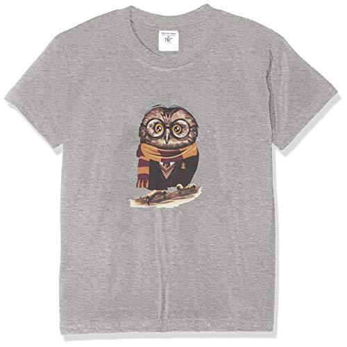 Texlab Kinder Harry Owl T-Shirt, Grau, M