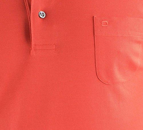 OLYMP Poloshirt Halbarm geknöpft Pique feuer Feuer