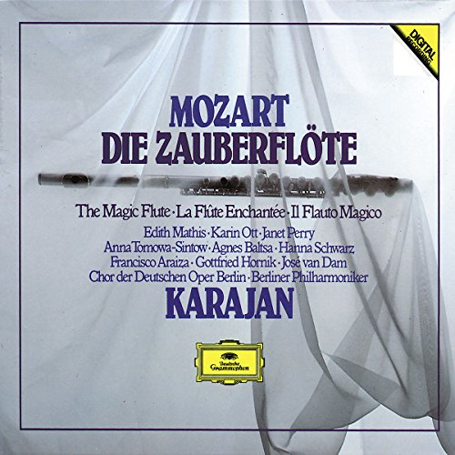 MOZART: Die Zauberflöte / Berlin Philharmonic Orchestra, Karajan, Mathis, Ott, Perry, van Dam, Araiza, Nicolai, Kruse, Baltsa, Schwarz