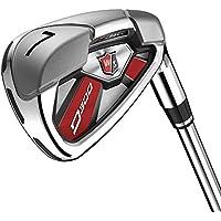 Wilson Staff Herren Golf-Set, Sieben Golfschläger, Rechtshand, D300, Regular Flex, graphit, WGR163550R