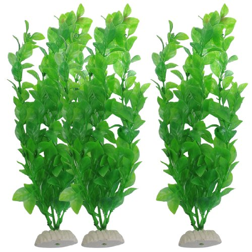 Sourcingmap Fish Tank Artificial Plants, 10.6-inch, 3 Pieces, Green Test